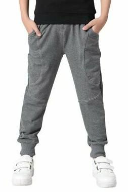 AOWKULAE Cotton Sports Sweat Jogger Pants for Little Boys Gr