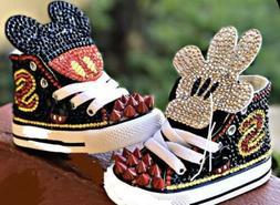 Custom Mickey Mouse Converse Sneakers For Toddler Boys