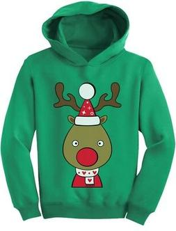 Cute Reindeer Outfit For Christmas Toddler Hoodie Girls Boys