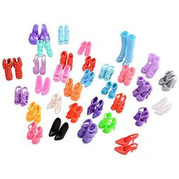 ASIV 60 Pairs Various High-Heel Shoes Boots Accessories for