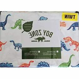 Dinosaur Twin Size Sheets Set  Wrinkle Free Home &amp