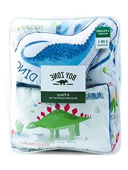 Boy Zone Dinosaurs Comforter Set Twin or Queen Dino Pillows