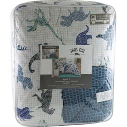 Boy Zone Dinosaurs Full Queen Comforter 2 Shams Pillows Bedd