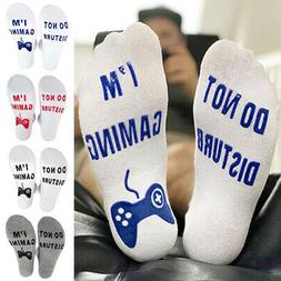 Do Not Disturb I'm Gaming Cotton Socks for Game Lover Ankle