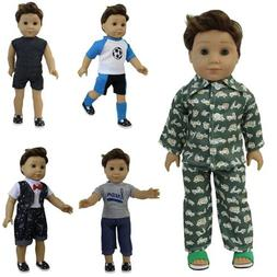 ZITA ELEMENT 5 Sets Boy Doll Clothes with 2 Pairs of Shoes f