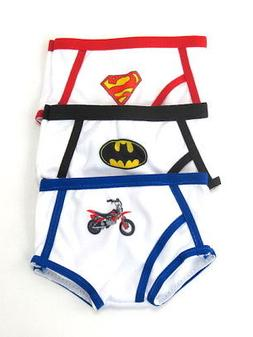 Doll Clothes Underwear Set of 3 Superhero Boys For 18 Inch A