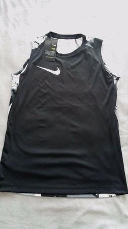 NIKE DRI-FIT SLEEVELESS TOP FOR BOYS STYLE 832637,COLOR BLAC
