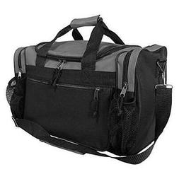 """DALIX 17"""" Duffle Bag Front Mesh Pockets in"""