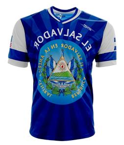 El Salvador and USA Jersey Arza Design for Kids, Boys and Ad