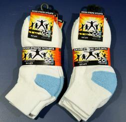 Exell MB55 Ankle Sport socks for Boys Size 6-8 Youth Kid - W