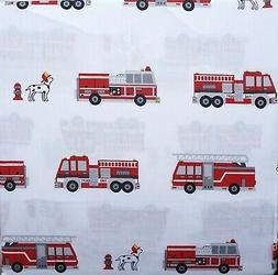 Boy Zone Fire Truck, Hydrant, Dog Theme Sheet Set Full