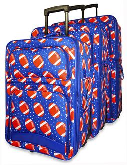 Football Sports Expandable 3 pc Piece Luggage Set for Travel