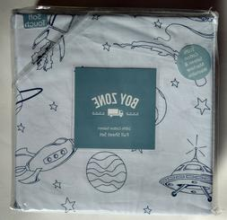 Boy Zone FULL Sheet Set Outer Space Rocket Space Ship Cotton
