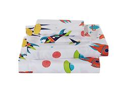 Full Size 4pc Sheet Set for Boys Solar System Space Rocket S