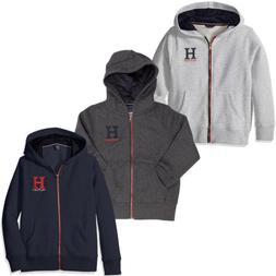 Tommy Hilfiger Full Zip Matt Logo Hoodie for Boys - Hooded S