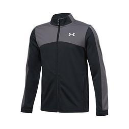 Under Armour Boys' Futbolista Soccer Track Jacket, Black /Wh