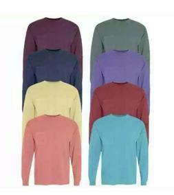 "Comfort Colors Garment Dyed Long Sleeve Tees, ""Message Me"
