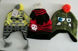 Group Lot Of Three Fall & Winter Hats For Boys