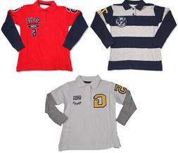 GS-115 Boys Long Sleeve Layered Look Polo Style T - Shirt To