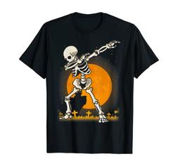 Halloween Shirts For Boys Kids Dabbing Skeleton Costume Dab