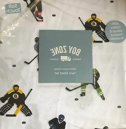 boy zone HOCKEY PLAYERS cotton sheet set - TWIN SIZE New