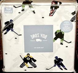 boy zone HOCKEY PLAYERS cotton sheet set - TWIN SIZE