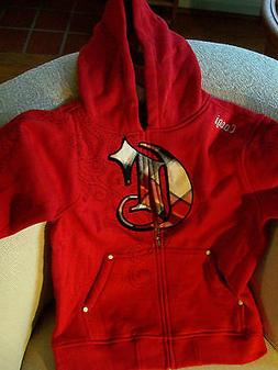 COOGI Hoodie for Boys Ruby Red MSRP $74-78 Zipper Front Pock