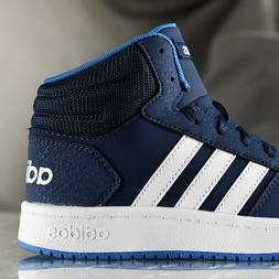 ADIDAS HOOPS MID shoes for boys, NEW & AUTHENTIC, US size  3