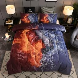 Ice Hockey Comforter Set Boys Teens Sport Fans Puck Quilted
