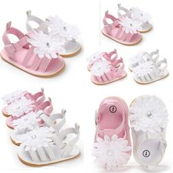 Infant Baby Floral Shoe Girl Boy Soft Sole Sandals Crib Shoe