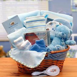 Baby Boy Blue Just for You! Newborn Baby Gift Basket for Boy