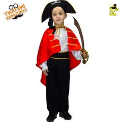 Kid Pirate Costumes with Cape Boys Noble Buccaneer Performan