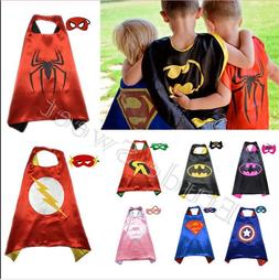 kids Boys Girl Superhero Cape cape&mask for kids birthday pa