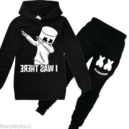 Kids Boys Marshmello DJ Music Hoodie Girls Hoodie Pants Set