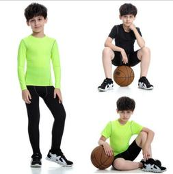Kids Boys Sports set running Yoga suit Child Gym Fitness Tig