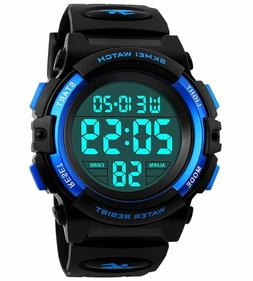 Kids Digital Watch,Boys Sports Waterproof Led Watches With A