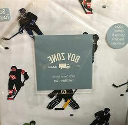 Boy Zone Kids Hockey Sports Full Size Sheet Set New