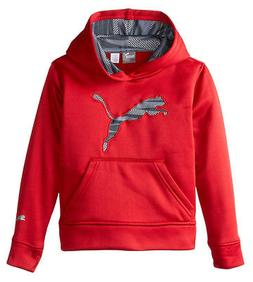 Puma Kids Storm Force 1 Pullover Hoodie with Big Cat Logo Sw