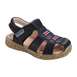GAXmi Kids Toddler Closed Toe Leather Sandals Shoes for Boys