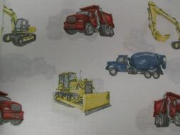 kids white red yellow truck construction equipment