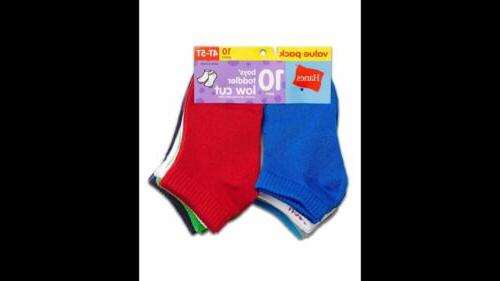 10-Pack Boys Low Cut - Assorted -