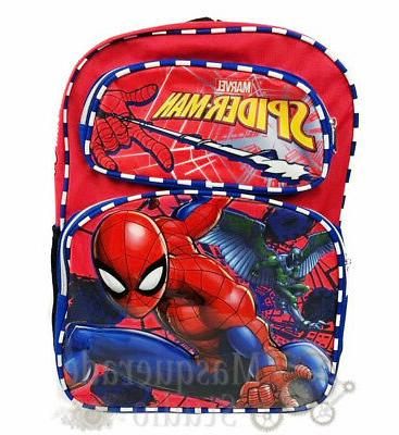 16 spiderman large red backpack book bag