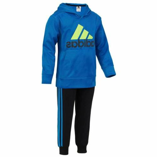 Adidas 2 Piece Hoodie & Jogger Pant Athletic Set for Boys -
