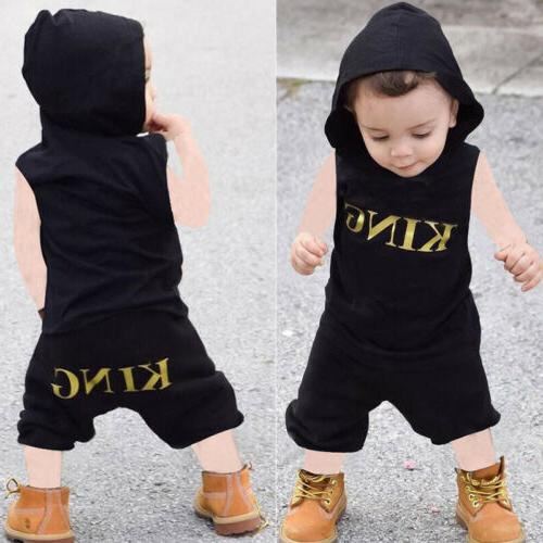 2 pieces king sleeveless hooded top