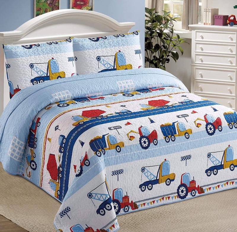 Kids Zone Home Linen 2Pc Twin Bedspread Coverlet Quilt Set F
