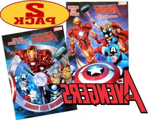 Marvel Mighty AvengersColoring and Activity Book Set