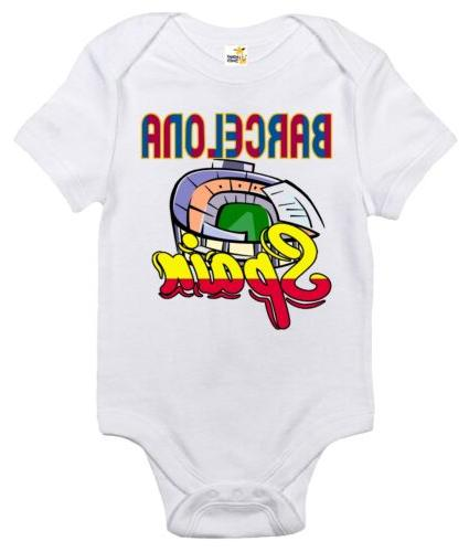 baby bodysuit barcelona cute baby clothes