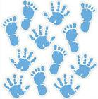 BABY BOY FOOT and HAND PRINTS wall stickers 12 decals nurser