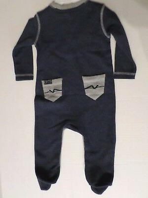7 For All Mankind Baby Thermal Navy/Gray 6-9 Months