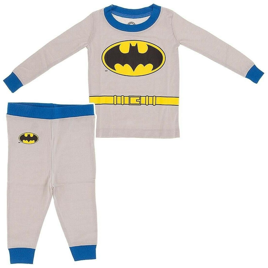Batman Long Sleeve Cotton Pajamas for Infant and Toddler Boy